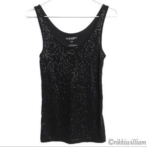 Old Navy Black Sparkly Tank Top